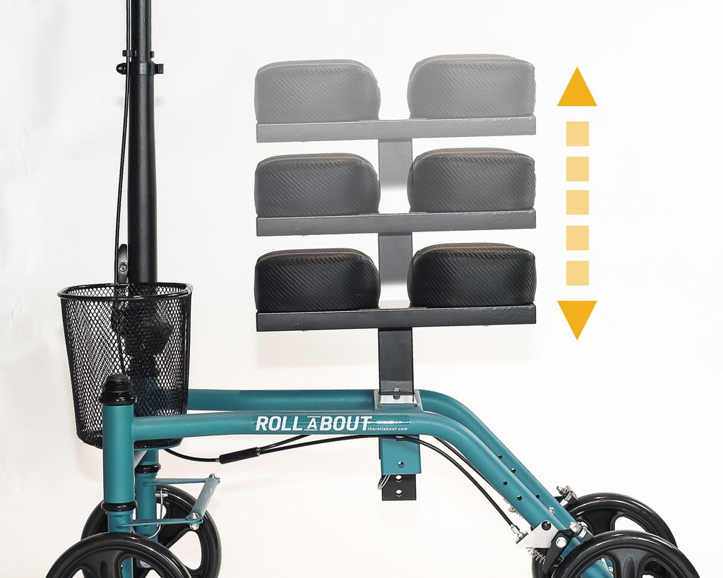 Knee walker model Steerable SW-500 adjustable seat