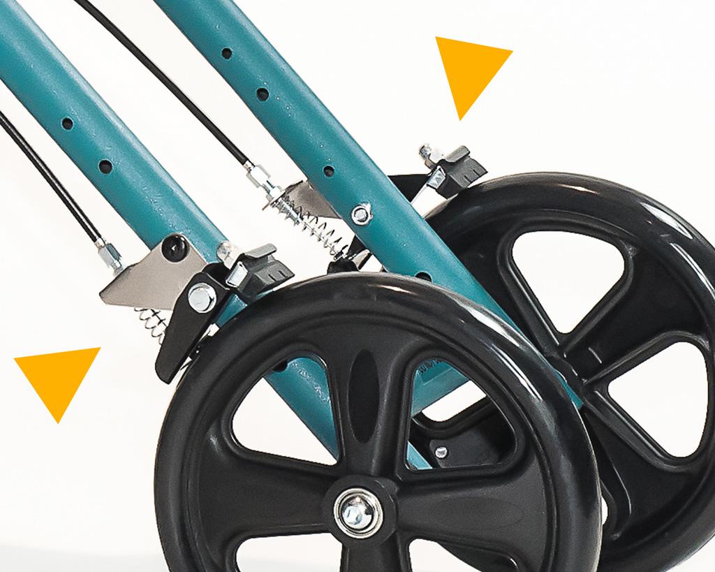 Knee walker model Steerable SW-500 dual brake